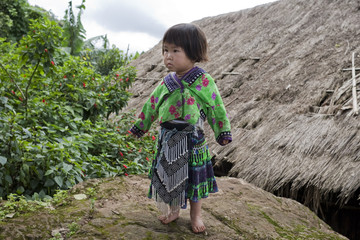 Mädchen von Asien, Volksgruppe Meo, Hmong