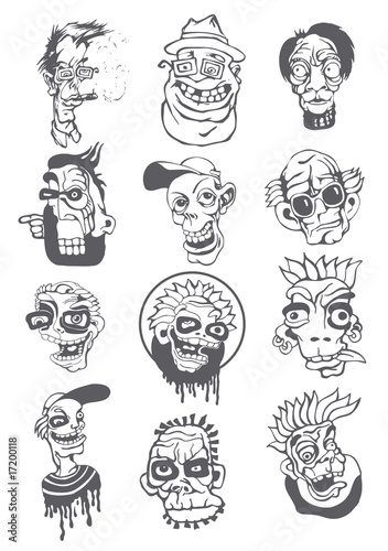 characters in a graphic style