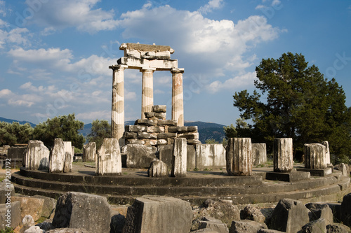 temple of Athena in Delphi