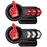 Number one fan foam hand on arrow banners poster