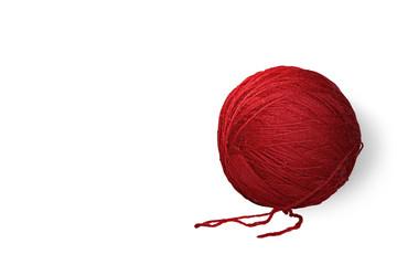 Gomitolo di lana rosso (con ombra (RAL 3027)