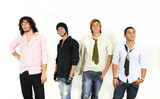 Casual trendy group of men poster