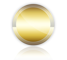 Button Gold Frei