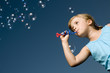 Little girl with bubbles