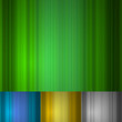 Vertical stripes green vector background with variants.