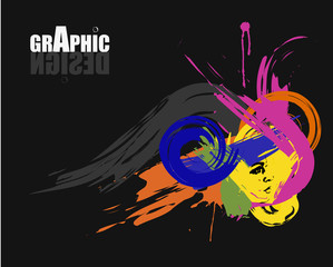 Graphic design brochure - black