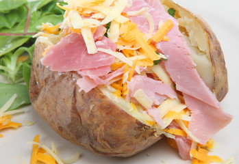 Baked Potato with Ham & Cheese