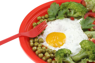 Egg and vegetable