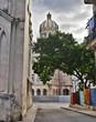 Havana street and revolution palace