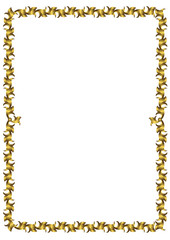 Thin gold graceful vintage framework (vector)