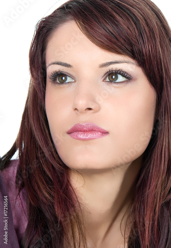 Close-up portrait of beautiful young woman