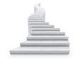 Leinwanddruck Bild - open staircase