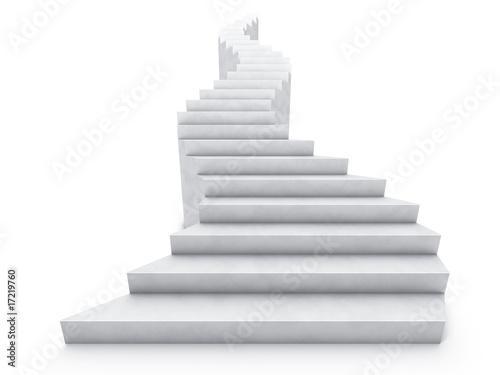 Leinwanddruck Bild open staircase