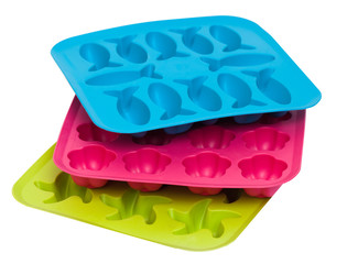 Ice tray isolated on the white background