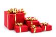 Leinwandbild Motiv Paquets cadeaux de Noël