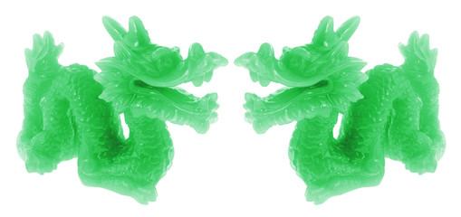 Jade Dragon Ornaments