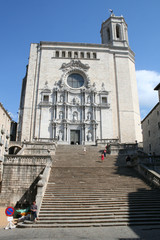 The cathedral in Girona, Spain