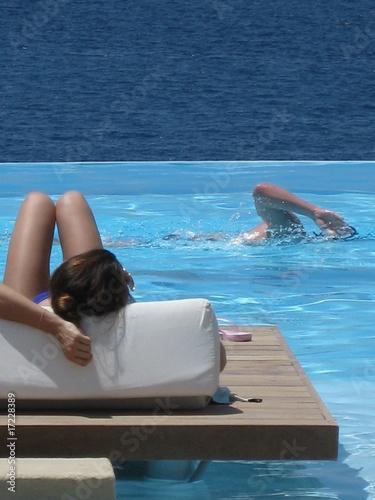 Foto chica nadando desnuda mar photo 31