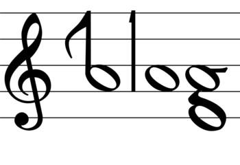 Music Note Symbol Blog Word Design