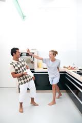 Ehestreit in der Küche