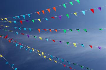 Flags & blue sky (2)