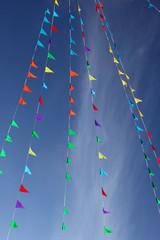 Flags & blue sky