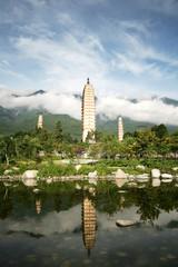 Three Pagodas in Dali, South western China