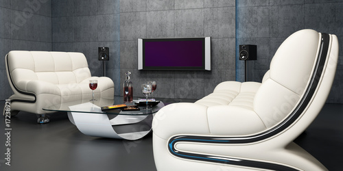Interior design of home cinema II