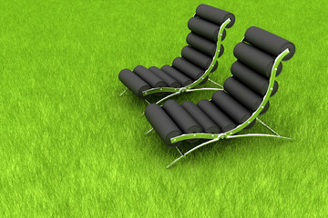 sofa on grass