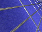 Close up of solar panel array poster