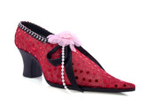 Red speckles shoe poster