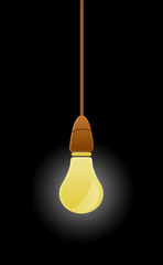 Hanging Lightblub Illustration