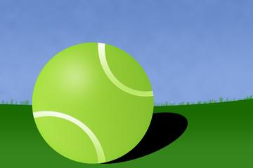Tennis Ball Court Illustration