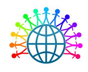 Colorfull world peace clip art