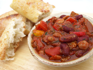 Bread and chili