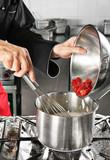Strawberry preparation poster