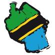mappa bandiera Tanzania