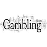 Gambling word cloud poster