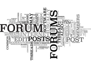 Web Forum word cloud