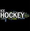 Hockey word cloud