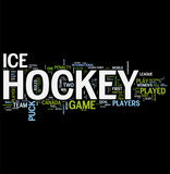 Hockey word cloud