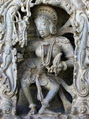 Stone sculptures of Hoysala architecture, Belur, India