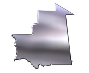Mauritania 3D Silver Map
