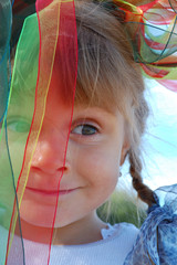 funny child carnival face