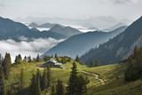 Fototapety berghütte en der rotwand