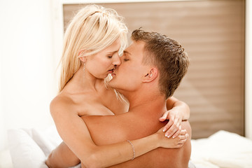 Young kissing couple