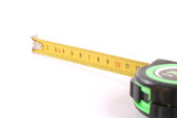 The tool for measurement of length over white. poster