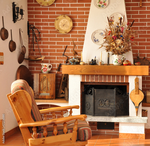 interno di casa di campagna
