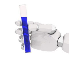 Robohand and test-tube