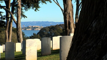 Alcatraz from Cemetery